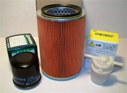 Maintenance Kit #1. Kit Includes: Air Filter, Oil Filter, Fuel Filter